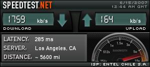 SpeedTest HSDPA Entel PCS