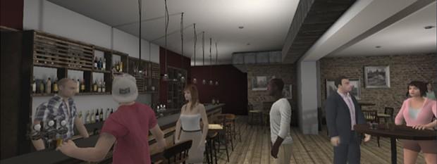 Un pub de realidad virtual permite a las personas con ansiedades sociales y pensamientos paranoicos experimentar con estrategias de afrontamiento en un entorno seguro © Kings College London