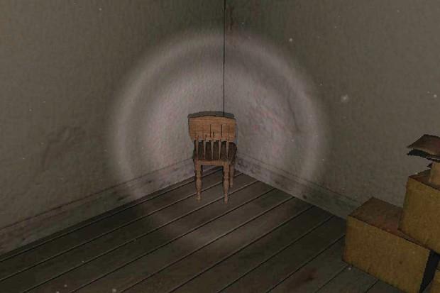Una silla en una habitación