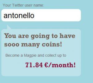 Actualidad Tecnologica – Magpie, publicidad en tu usuario de Twitter