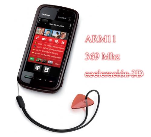 Nokia 5800 XpressMusic: procesador a 369 MHz y falta de aceleración gráfica 3D