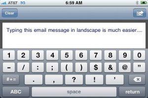 TouchType, para escribir correos en 'modo apaisado'